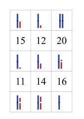 Mathematik  Memo-Spiel / Zuordnungsspiel (Zahlen bis 20)
