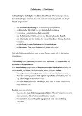 Erörterung: Einleitung: allgemeine Anleitung