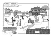 Illustrierte Wortschatzübung zu Campus 1 C Kapitel 1