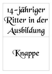 Ritter - Zuordnungsspiel / Memo-Spiel