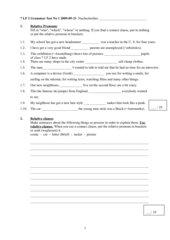 Green Line 3 (G8) Unit 1 - Grammar Test - Nachschreiber