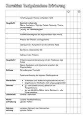 Korrekturbogen: Textgebundene Erörterung