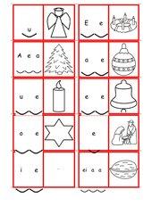 Domino Silbenkönige Weihnachtswörter