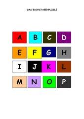 Buchstabenpuzzle