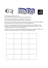 Bingo-Spielplan
