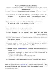 Webquest Valladolid