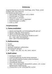 Erörterung Realschule Bayern