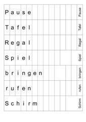 Wortschieber - Lesestrategie Antizipation - Kl. 2