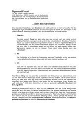 Arbeitsblatt zu Freuds Theorie vom Es-Ich-Über-Ich
