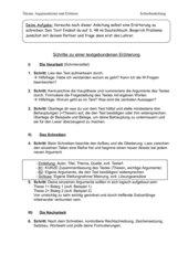 Anleitung zum Schreiben einer Erörterung