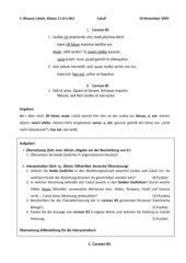 Klausur Catull Klasse 11