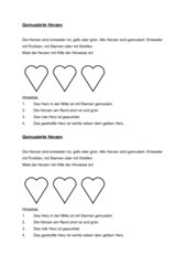 Logical Gemusterte Herzen/Fußbälle (anmalen)