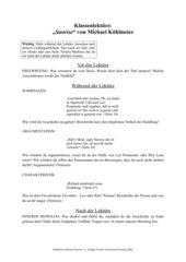 Arbeitsblatt zur Lektüre: Michael Köhlmeier