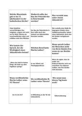 Quiz zur Reformation