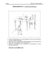 Klassenarbeit Fantasieerzählung Klasse 5