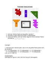 Flächen mit Heftquadraten vergleichen