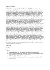 Hüter der Erinnerung - Brief von Fiona nach