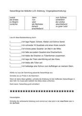 Satzanfänge bei Abläufen (Vorgangsbeschreibung, Anleitung)