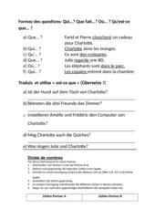 Übungen zu Fragen mit est-ce que und Zahlen (Spiel)