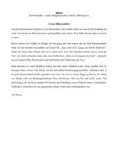 Diktat - Klasse 5 (s-Laute und langgesprochene Vokale)