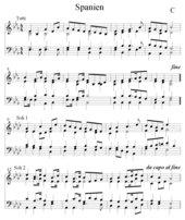 Spanien Nationalhymne vierstimmiger Satz