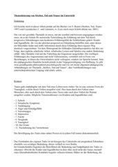 Thematisierung von Streben, Tod und Trauer im Unterricht - Hausarbeit