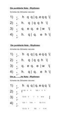 Die punktierte Note - Rhythmen