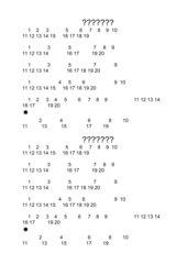 Zahlenfolge 1 bis 20