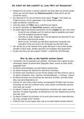 Anleitung für die Gestaltung eines Leseheftes (Lesetagebuch)