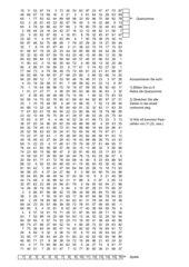 Konzentrationsübungen Zahlenblatt