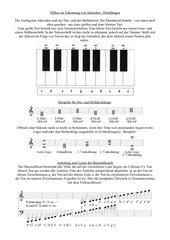 Infoblatt über Akkorde und das Lesen des Bassschlüssels