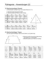 Pythagoras - Anwendungen (2)