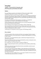 Percy Jackson - Diebe das Olymp - Satzgefüge AB