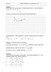 Kleines Arbeitsblatt zur Vektoraddition und Linearkombination im R^2