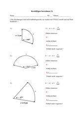 Kreisbögen berechnen (1)