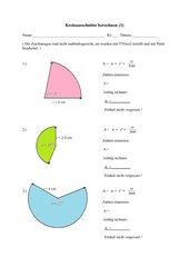 Kreisausschnitte berechnen (1)