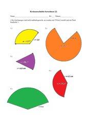 Kreisausschnitte berechnen (2)