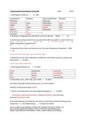Klassenarbeit Deutsch Grammatik Klasse 6 Wortarten