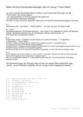 """Kurze Konzentrationsübungen und Rätsel mit Lösung = """"Frohe Ostern"""""""