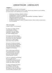 Arbeitsblatt zum Gedicht
