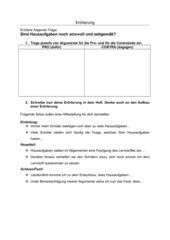 Erörterungsthema Hausaufgaben