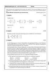 Klausur zu Matrizen und Vektoren als Datenspeicher