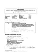 Prüfungsentwurf 2. Staatsexamen Gewölluntersuchung
