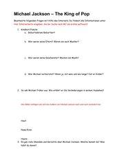 Michael Jackson Fragebogen