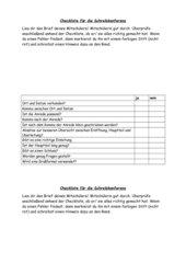 Checkliste Briefe schreiben