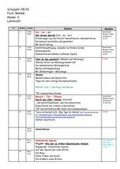 Arbeitsplan/Themenplan MeNuK Klasse 3