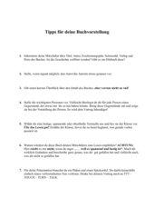 Tipps für deine Buchvorstellung