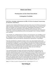 Klausur zum Thema Westintegration der Bundesrepublik
