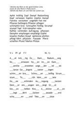 Arbeitsblätter zu pf, v und f