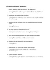 Quiz zum Regenwurm und der Weinbergschnecke